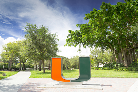 U Statue at Coral Gables Campus